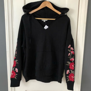 American Eagle Rose Embroidered Hoodie